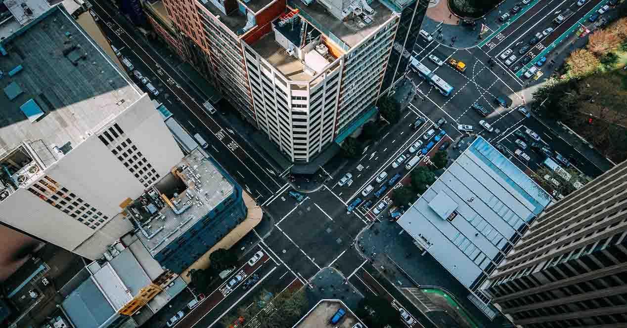 Imagen aérea ciudad