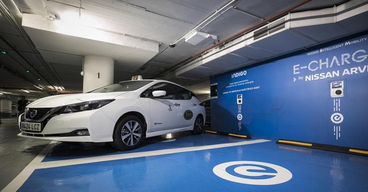 Dónde aparcar coche eléctrico e híbrido