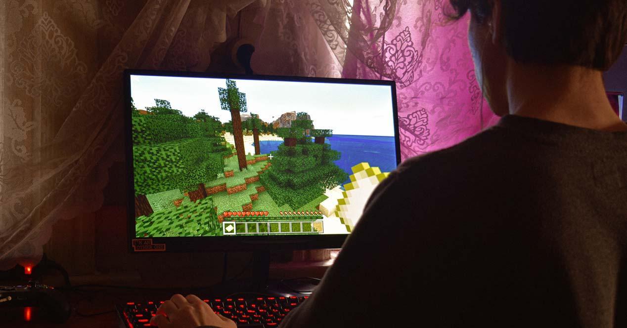 Jugando con un monitor