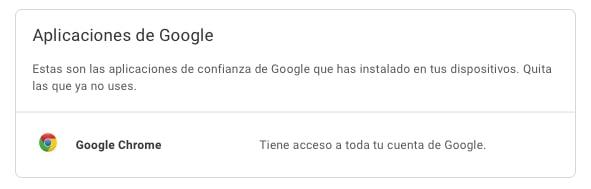 aplicaciones de confianza de google con acceso a la cuenta