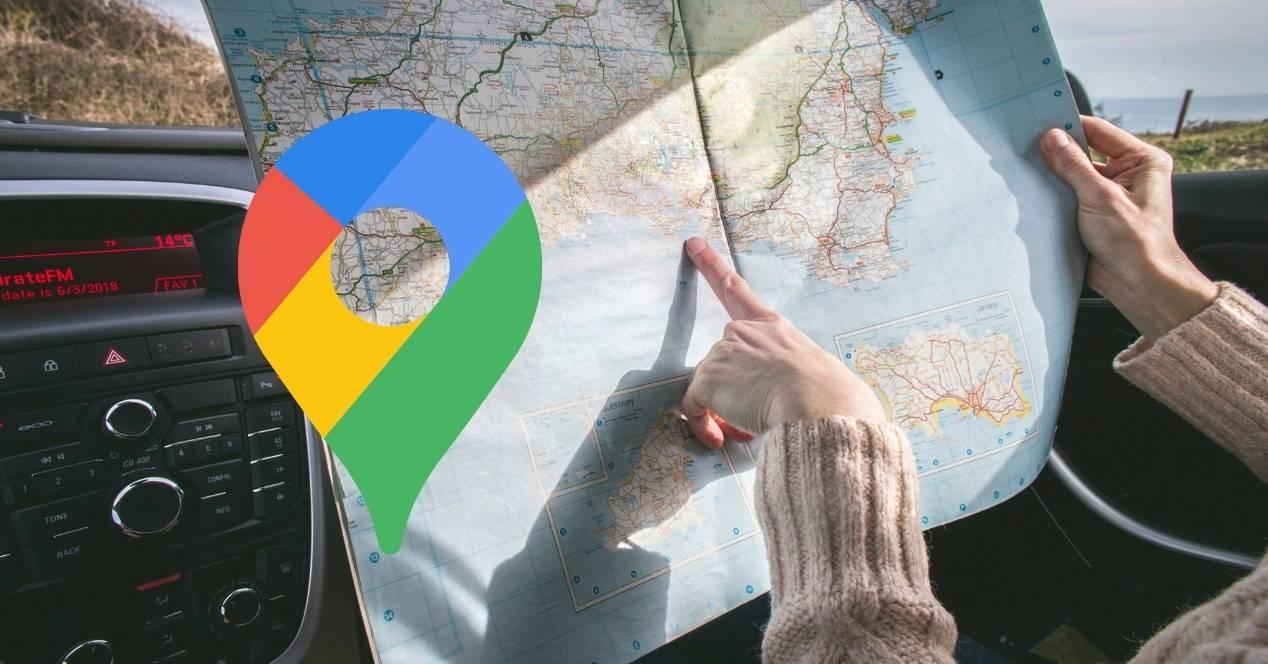 google maps con el logo