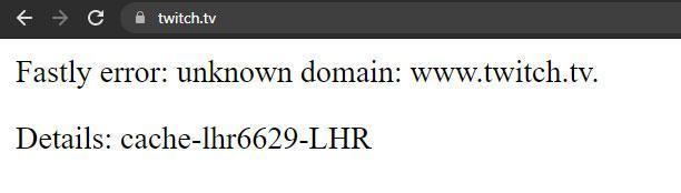 error twitch