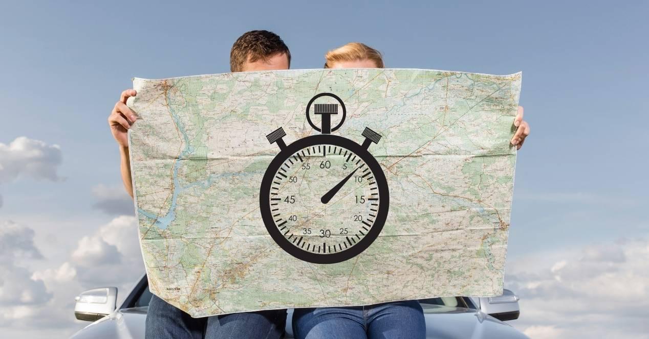 calcular hora de llegada google maps