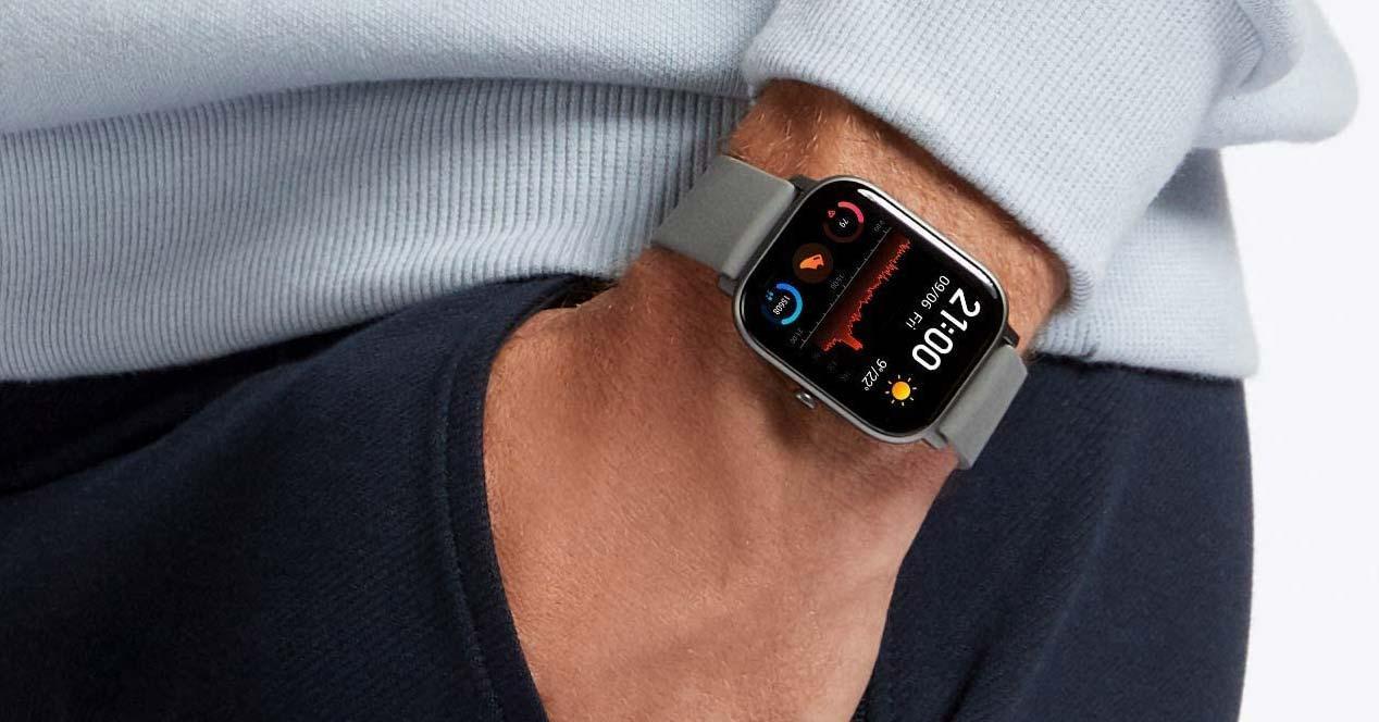 Uso de un smartwatch Amazfit
