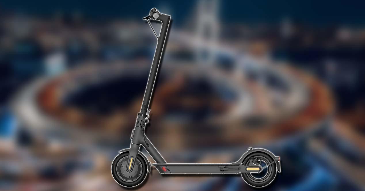 Patinete Xiaomi MI Electric Scooter 1S con fondo
