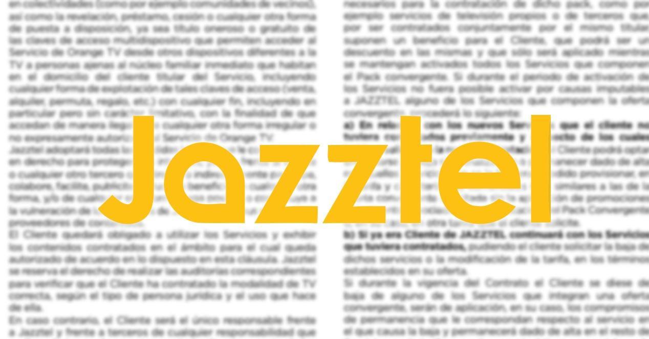 condiciones legales de jazztel