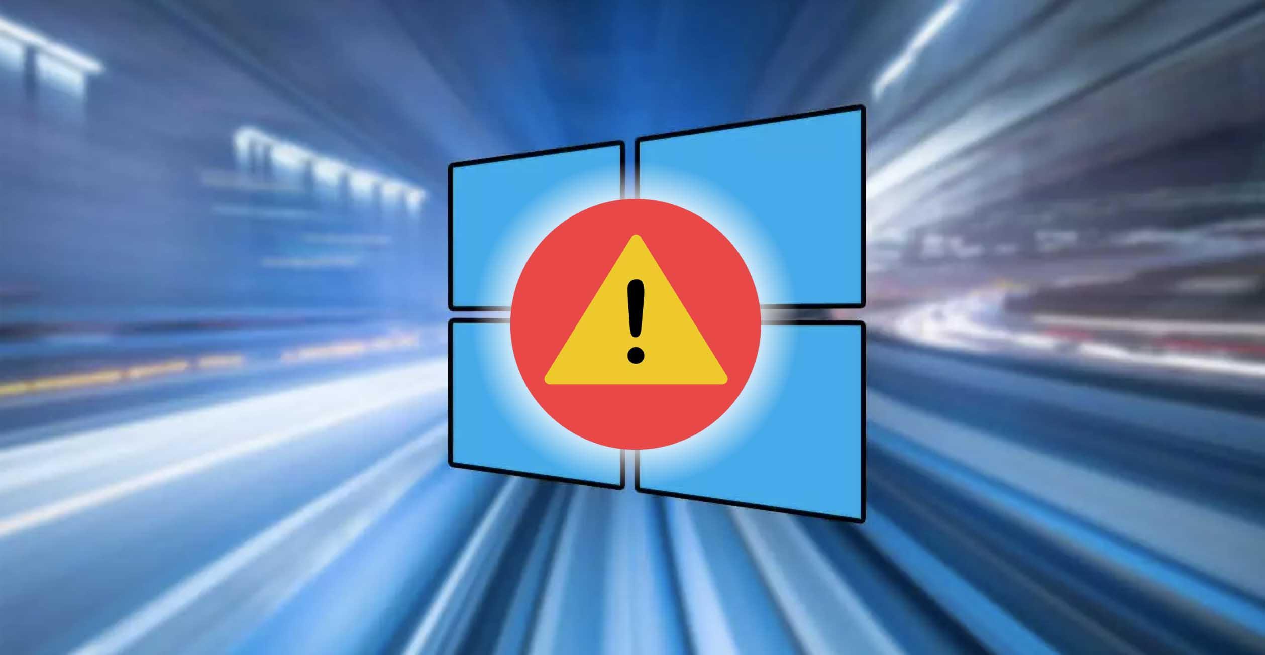 error inesperado windows 10