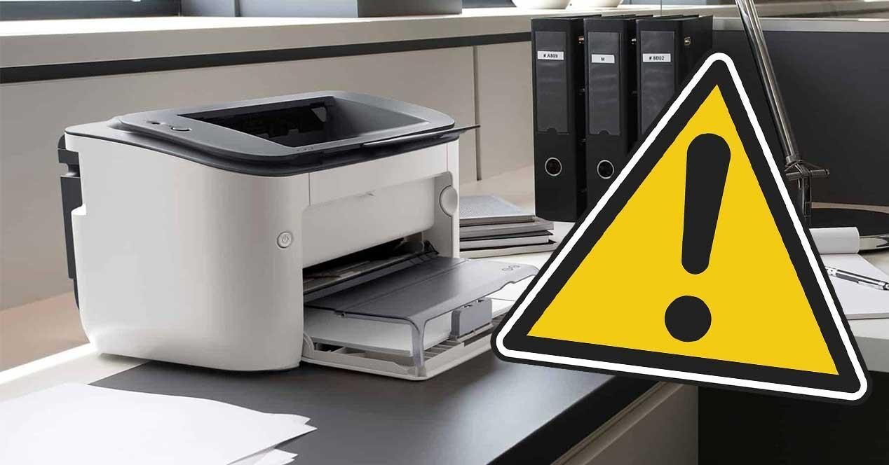 impresora peligro seguridad drivers