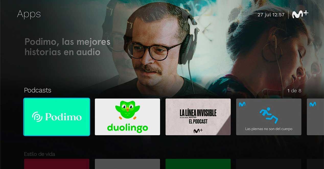 movistar podcasts living app