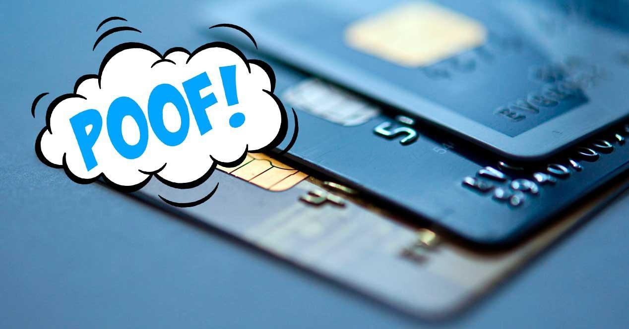 medio pago tarjeta desaparece