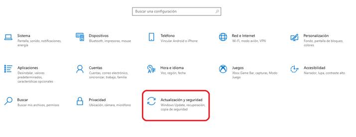 actualizacion y seguridad windows