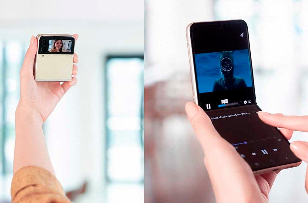 Samsung Galaxy Z Flip 3 plegado y desplegado