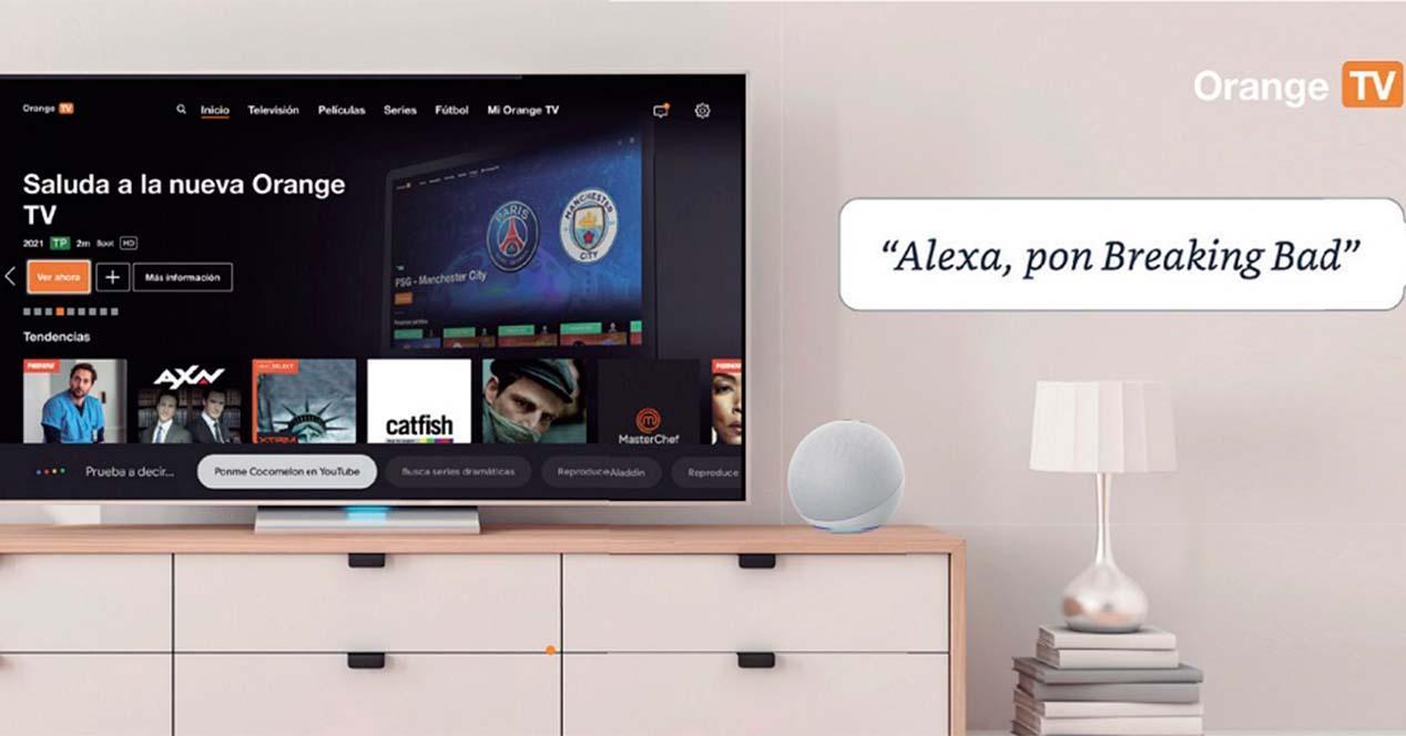 Alexa compatible con Orange TV