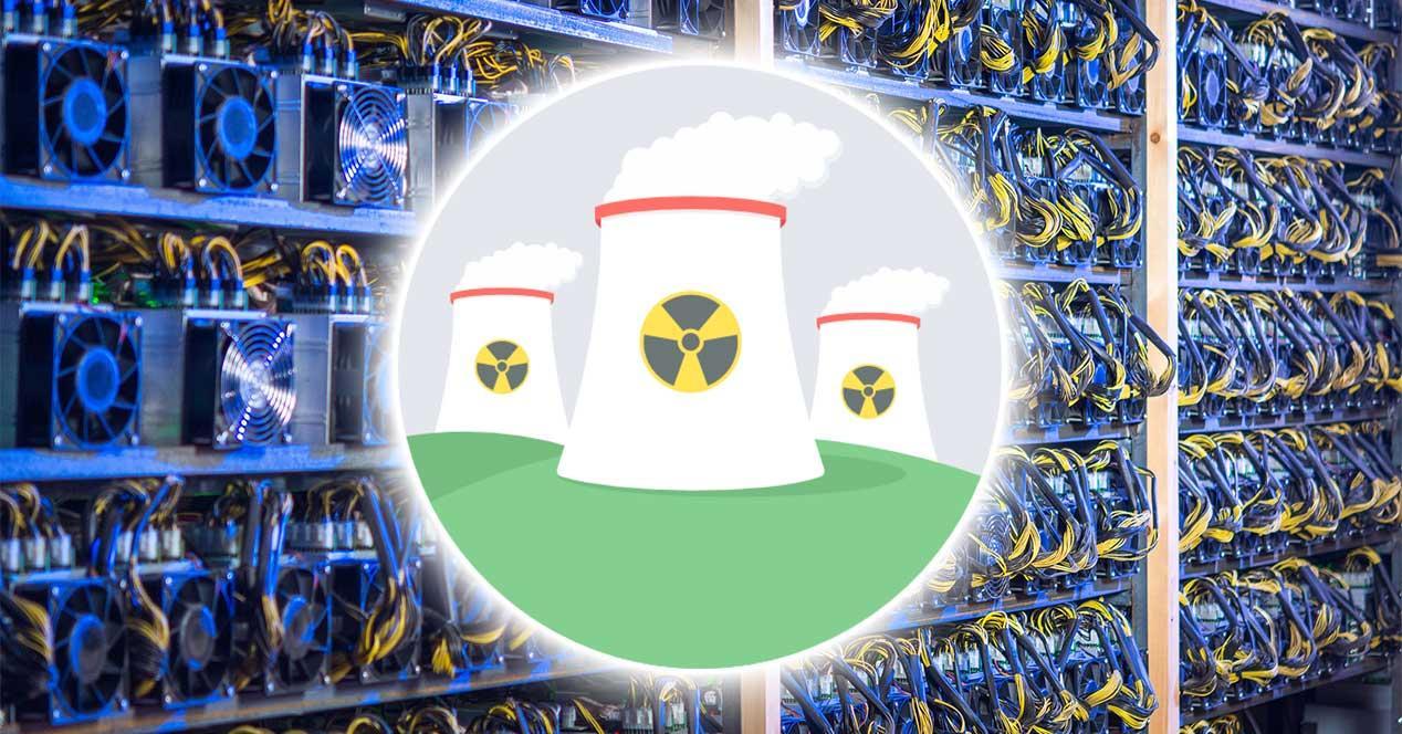 central nuclear granja minado bitcoin