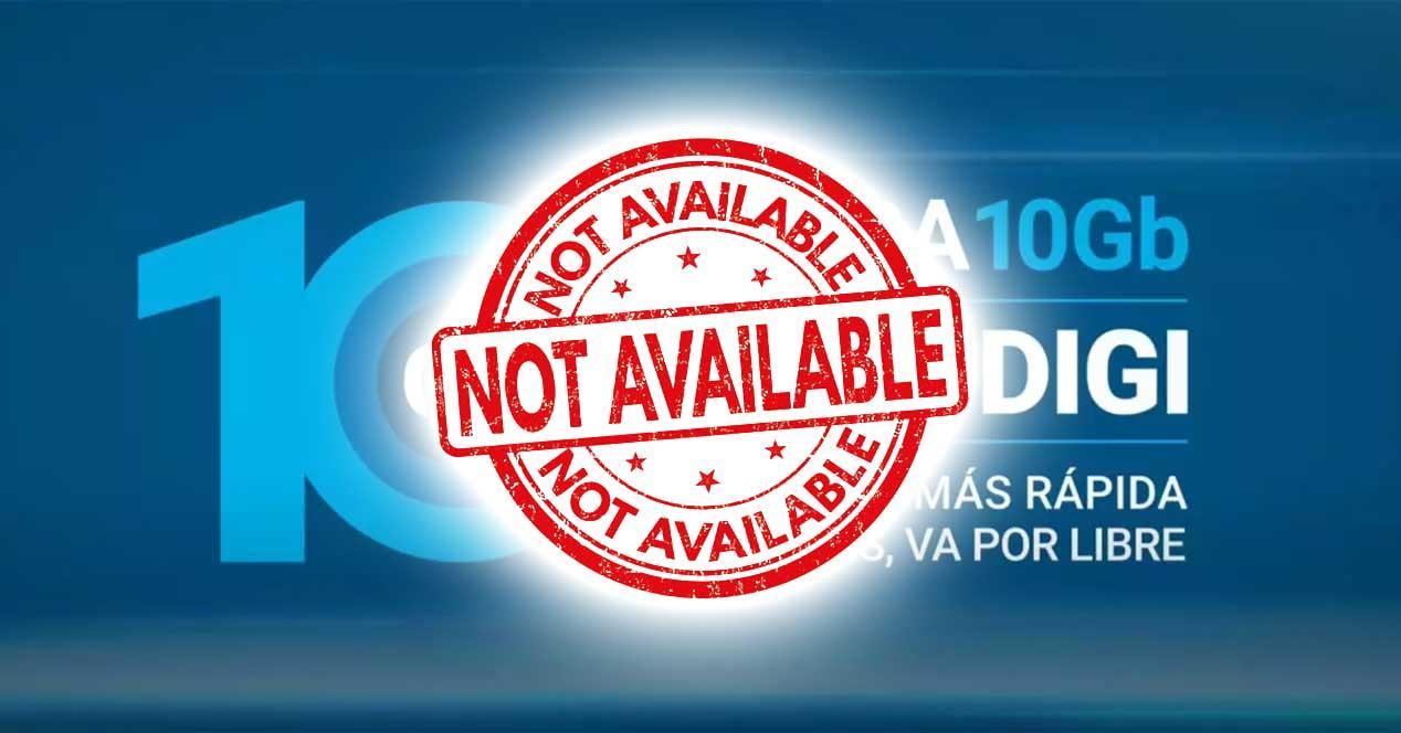 fibra 10 gbps digi no disponible