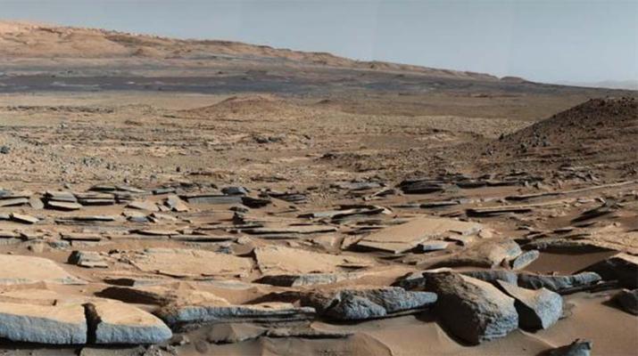 foto del cráter gale en marte