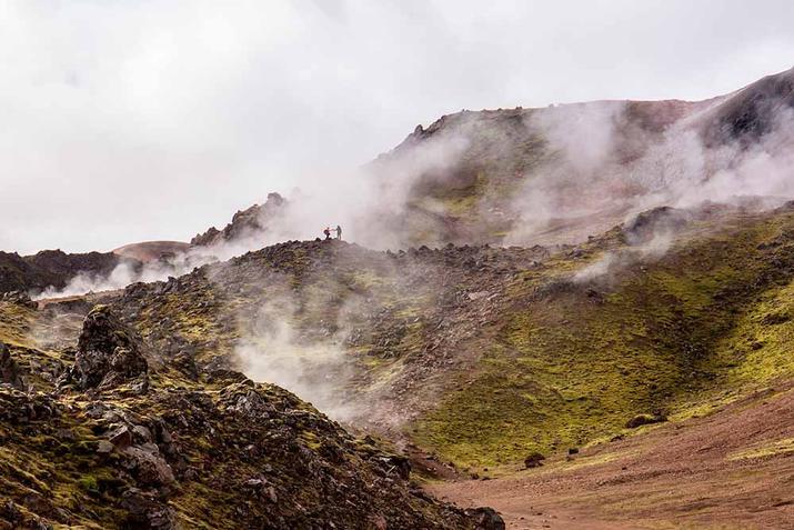 foto de fumarolas en islandia