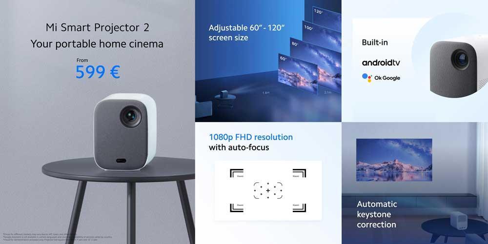 mi smart projector 2 -ominaisuudet