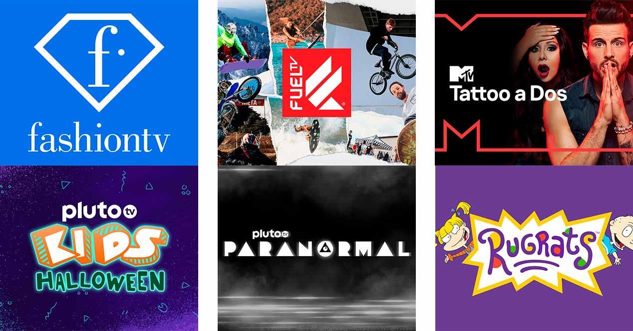 Nuevos canales Pluto TV en octubre 2021