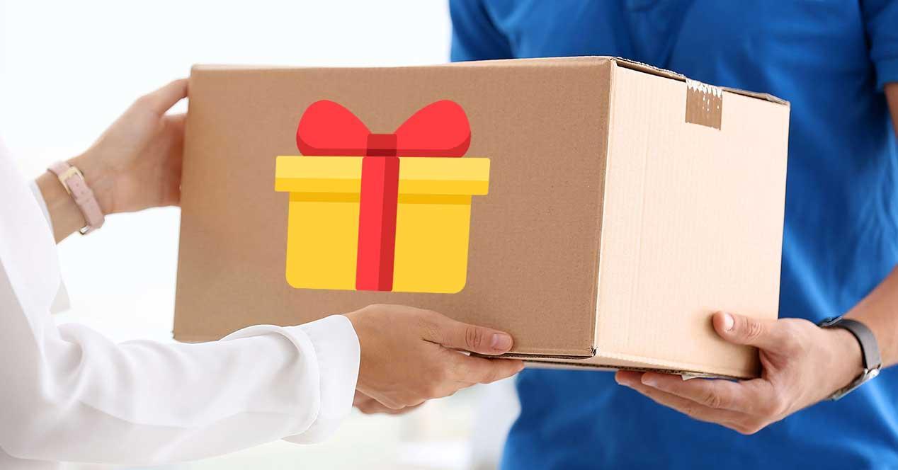 regalo pedido amazon paquete