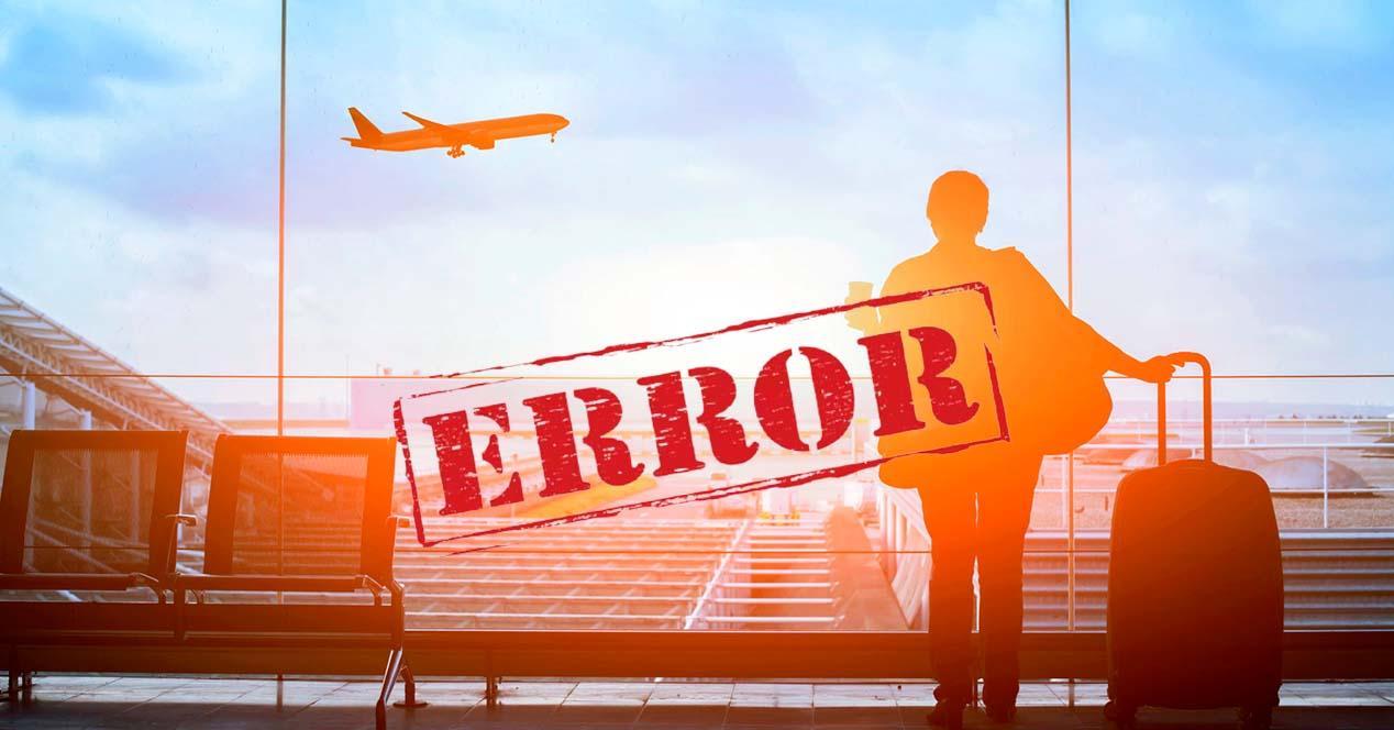 Tarifas error para viajar