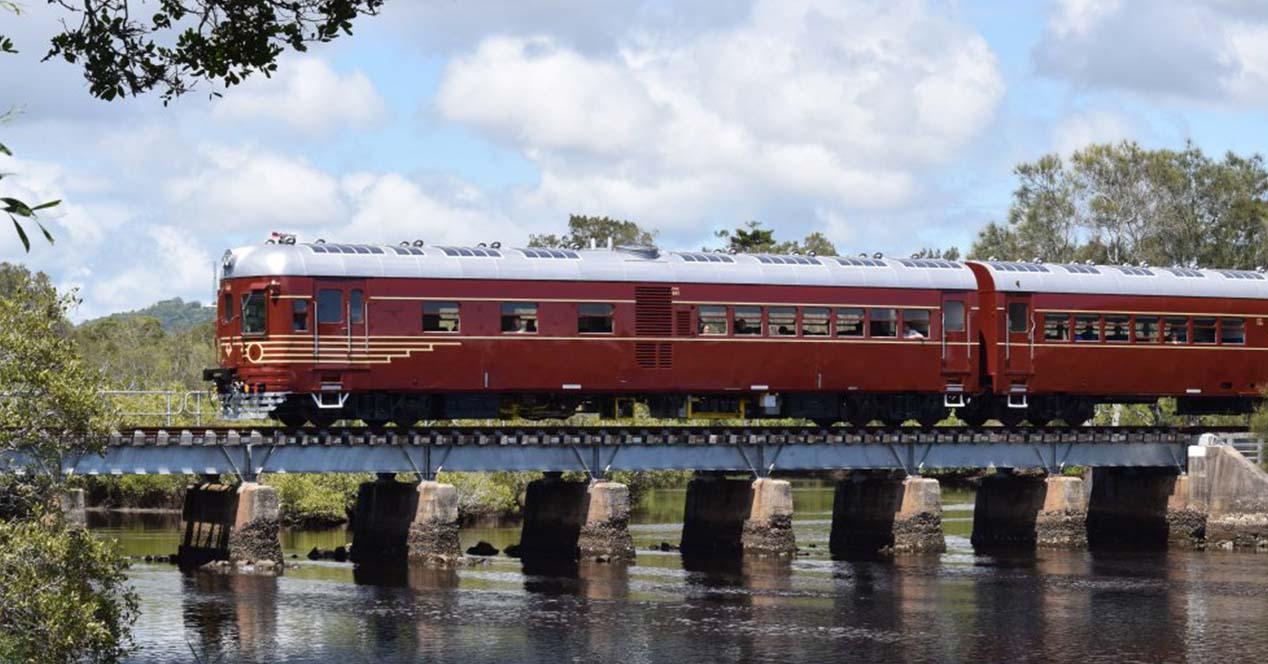 Tren que funciona con energía solar