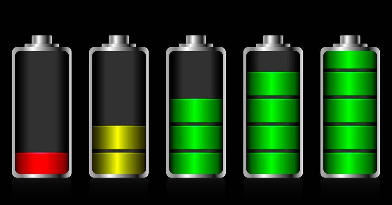 Estados de la batería de un portatil