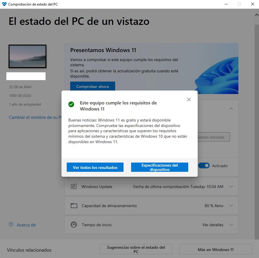 comprobacion windows 11 compatibilidad